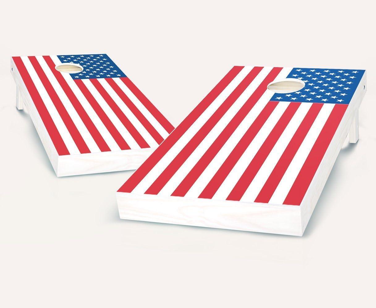 American Flag Cornhole Boards withのセット8 Cornhole Bags
