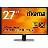iiyama 27型ゲーミングディスプレイモニターGE2788HS-B2 (応答速度1ms/フルHD/HDMIx1/DVIx1/D-subx1)