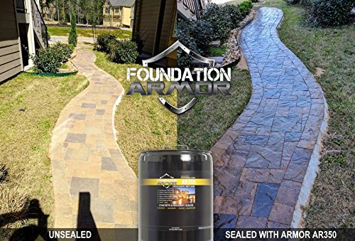 Armor AR350 Wet Look Concrete Sealer and Paver Sealer with Low Gloss Finish (1 GAL) by Foundation Armor (Image #3)