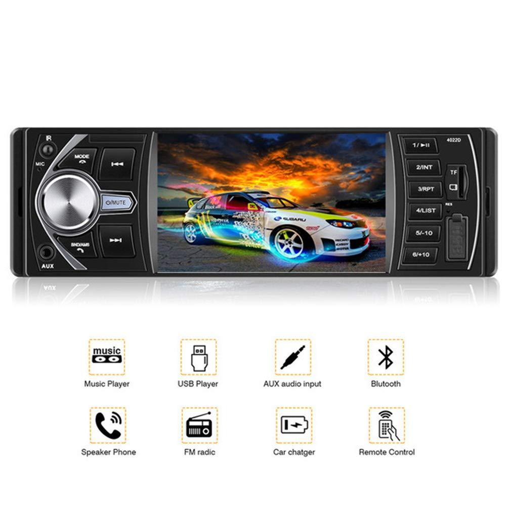 BoomBoost 4, 1 pouces plein angle de vision haute dé finition TFT Bluetooth lecteur sté ré o voiture autoradio 1 pouces plein angle de vision haute définition TFT Bluetooth lecteur stéréo voiture autoradio
