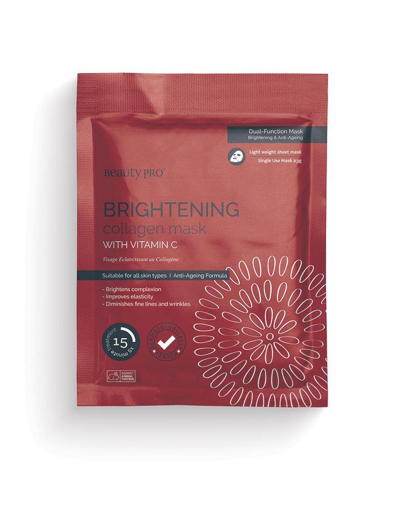 BeautyPro Brightening Collagen Sheet Mask with Vitamin C 14050U