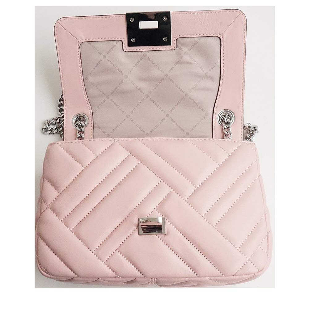 Michael Kors Vivianne Quilted Leather Medium Shoulder Flap Bag in Pastel  Pink  Handbags  Amazon.com 08ae7651ca384