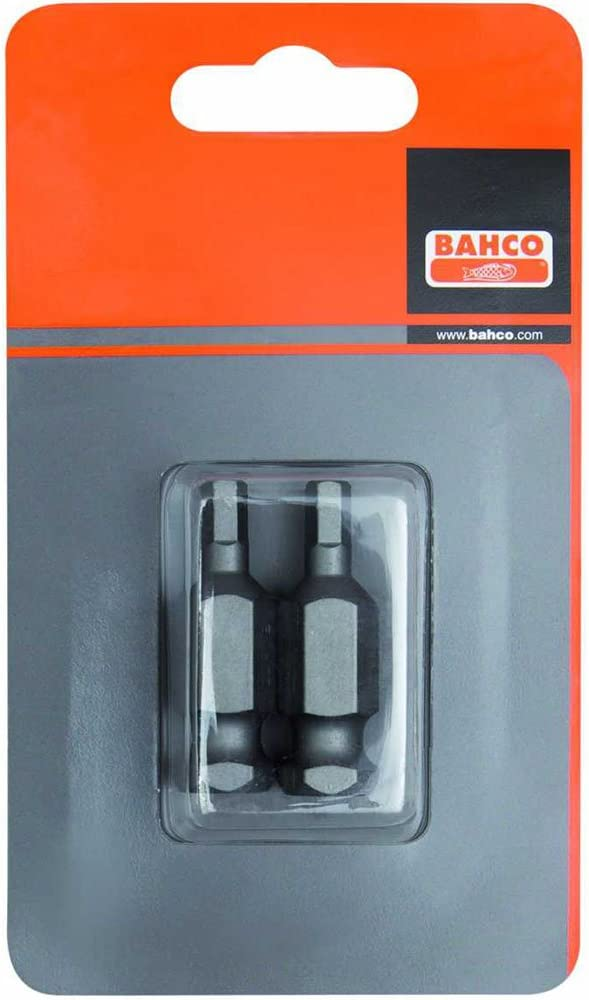 Bahco 74S//H17-2P BH74S//H17-2P H17 Bits for Hex Head Screws Silver Set of 2 Pieces 7//16-Inch 35 mm