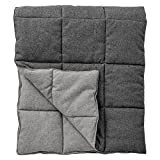 Grey Quilted Recycled Wool Throw