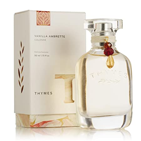 Thymes – Vanilla Ambrette Cologne – Warm Gourmand Fragrance for Men Women – 1.75 oz