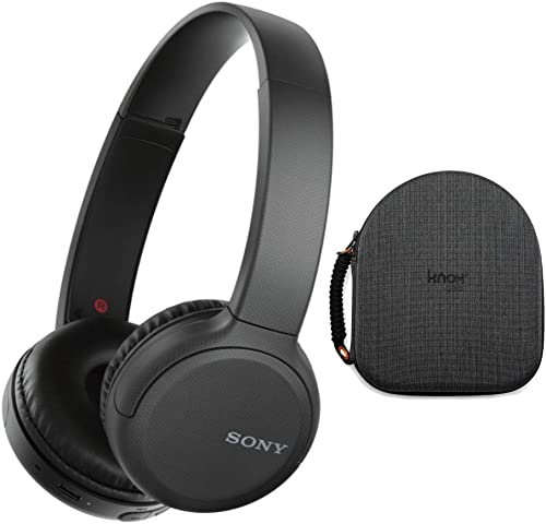 Sony WH-CH510 Wireless On-Ear Headphones, Black WHCH510 B with Knox Gear Hard-Shell Case Bundle 2 Items