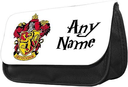 Estuche personalizado con diseño de Harry Potter Gryffindor Crest Funny Pencil Case. Estuche de maquillaje, regalo