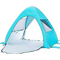 WolfWise UPF 50+ lätt pop up strand solskydd tält bärbar baby tak snabb omedelbar automatisk sport paraply solskydd blå…