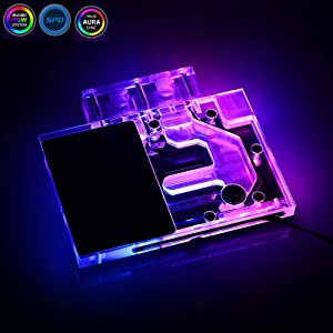 Bykski RGB VGA GPU Water Cooling Block for ZOTAC GeForce GTX 1080Ti 1070Ti Mini 1070 (for ZOTAC GeForce GTX1070 Mini)