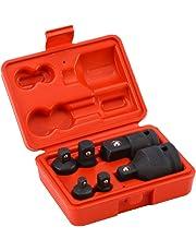 "Impact Socket Adapter, 6pcs Impact Drive Socket Reducer Adaptor Set with Random Color Case, 3/4"" 1/2"" 3/8"" 1/4"""
