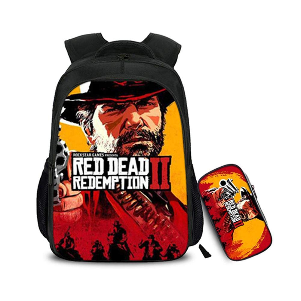 2 Piece Red Dead Redemption Backpack Redemption Student Boys Girls Adults Bag