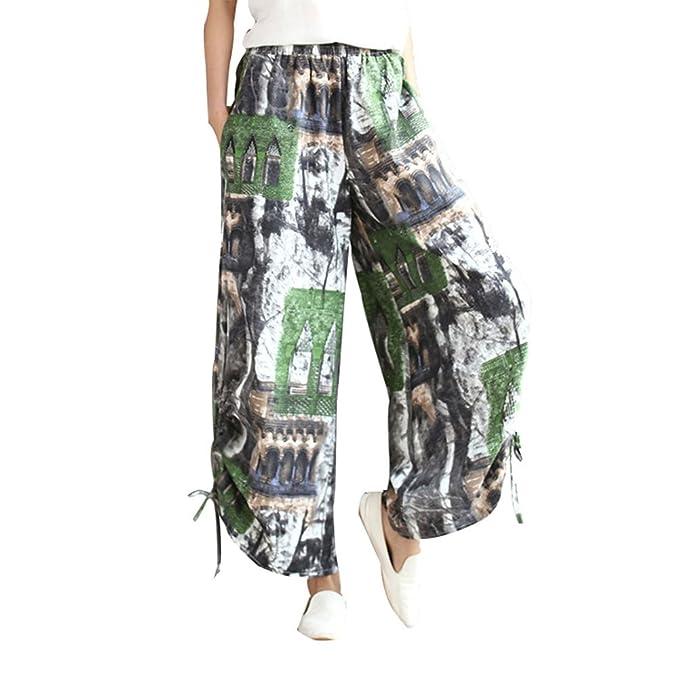 CTOOO Pantalones De Harén De Danza Pantalones De Yoga Pantalones Hippie Boho Mujeres Desgaste Playa Fiesta: Amazon.es: Ropa y accesorios