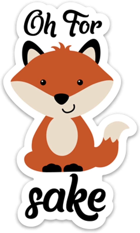 Stickeroonie Oh Fox Sake ビニールステッカー キュートで面白い防水アニマルステッカー 4インチ x 3インチ