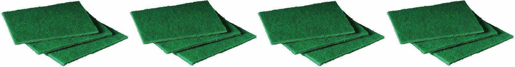 Scotch-Brite 105 General Purpose Scouring Pad, 6'' Length x 4-1/2'' Width, Green (Case of 40) (4-Case of 40))