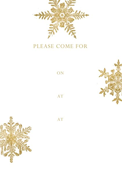 Pack of 8 Entertaining with Caspari Winter Song Fill in Invitations with Envelopes Red by Entertaining with Caspari