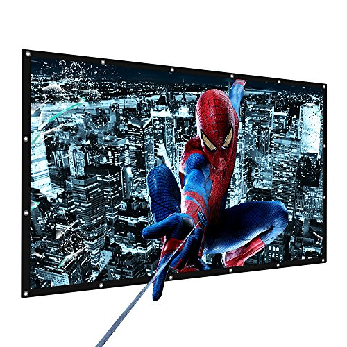Portable Movie Screen Tabletop 16:9 Home Cinema Projector Screen, PVC Fabric (100 Inch) by Smart for Life