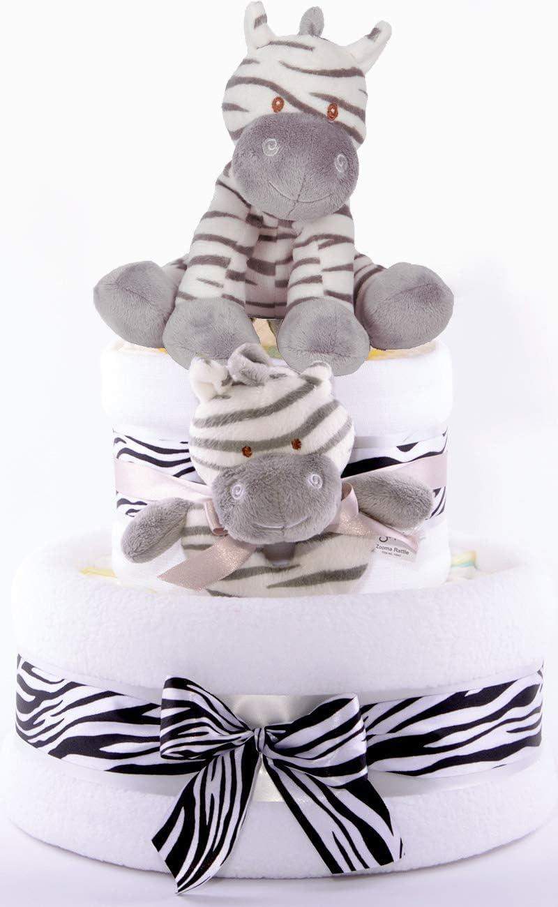 ideal como regalo para nacimiento bautizo o cumplea/ños blanco cebra Manta de peluche con dise/ño de animales y estrellas
