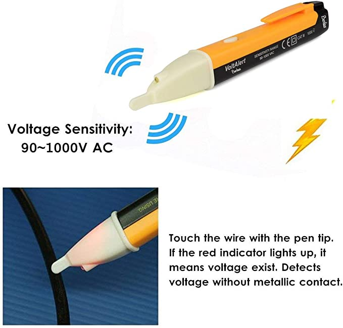 Detektor Spannungsprüfer Stift Sensor Volt Verschleißfeste 90-1000V Industrielle