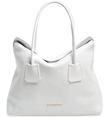ebc00bdd3bb5 Burberry Women s Grainy Leather Medium Baynard White Tote Handbag   Amazon.ca  Shoes   Handbags