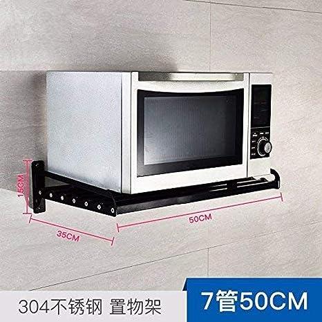 ACZZ 304 Estante de Cocina de Acero Inoxidable Negro Microondas ...