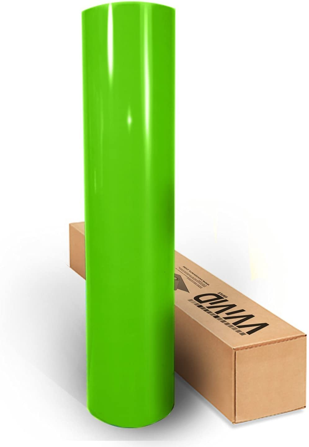 Lime Green Gloss 60 Inches x 1 Foot Car Wrap Vinyl Roll with Air Release 3MIL-VViViD8