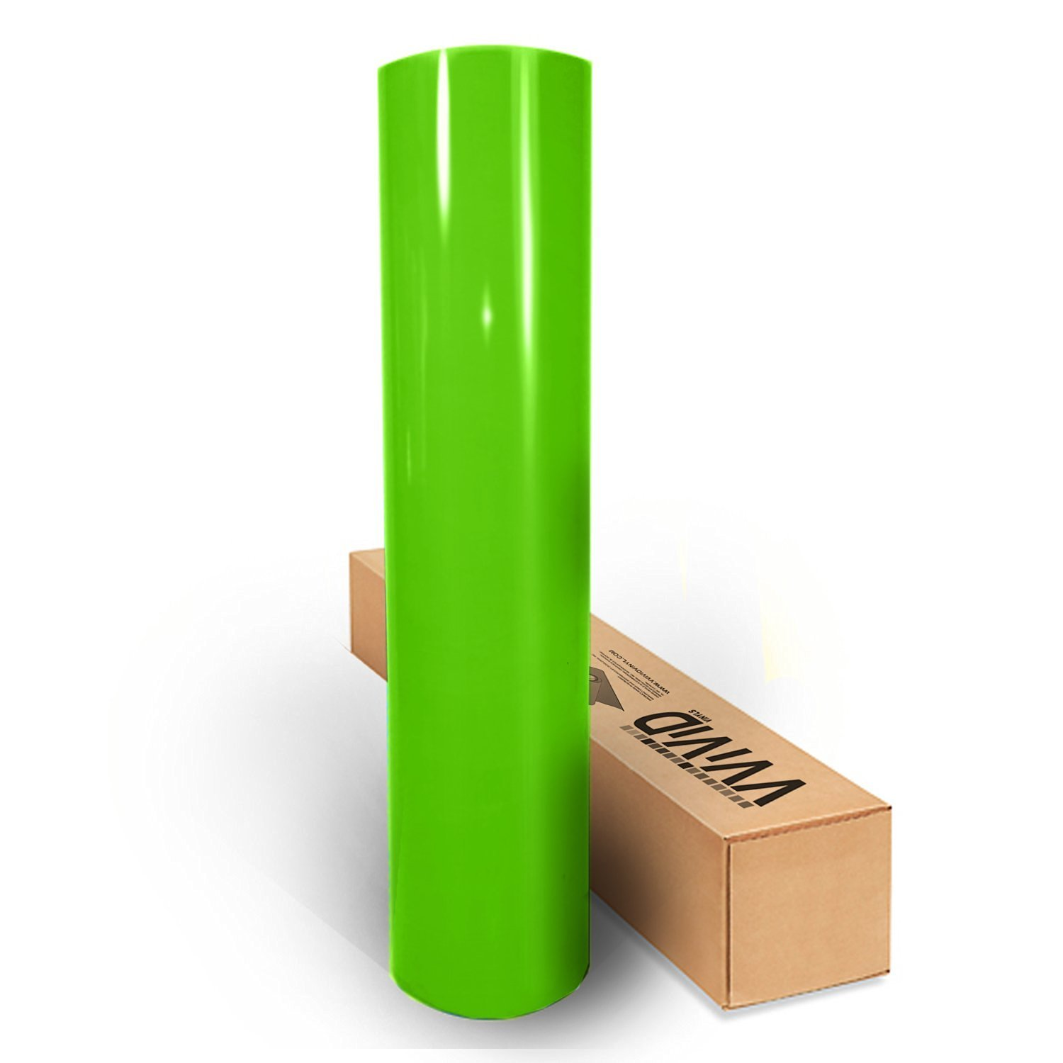 VViViD Lime Green Gloss Car Wrap Vinyl Roll with Air Release 3mil (10ft x 5ft)