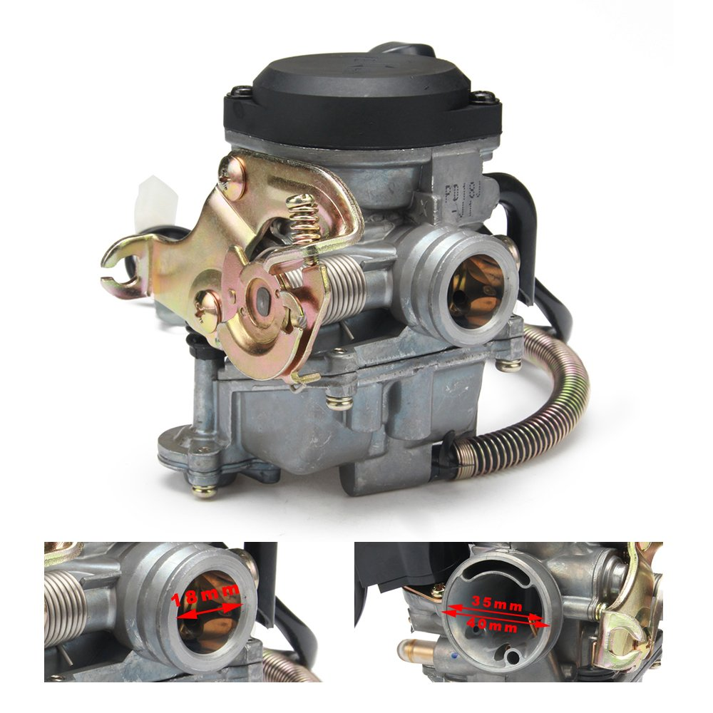 JFG RACING 18mm Motorcycle Keihin CVK PD18J Carb Carburetor For 4 Stroke  GY6 50CC 139QMB 139QMA Scooter Jonway Baja Jmstar Lance NST Peace Banzer