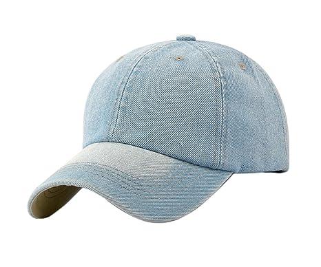 cd235da061f7b Leisial Ocio Gorra de Béisbol de Vaquero Color Sólido Ajustable del Sombrero  al Aire Libre Hats Hip-Hop Verano Primavera para Hombre Mujer  Amazon.es   Ropa ...