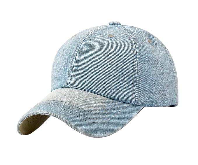 Leisial Ocio Gorra de Béisbol de Vaquero Color Sólido Ajustable del Sombrero  al Aire Libre Hats Hip-Hop Verano Primavera para Hombre Mujer  Amazon.es   Ropa ... 374a46964ef