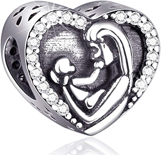 925 Real Sterling Silver Man Bead Charm Beads Charms Men Male Boys