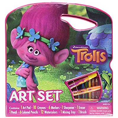 Bendon Trolls Large Character Art Case (AS42297): Toys & Games