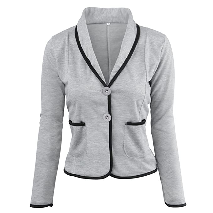 Amazon.com: Women Blazer Formal Business Office Work Coat ...