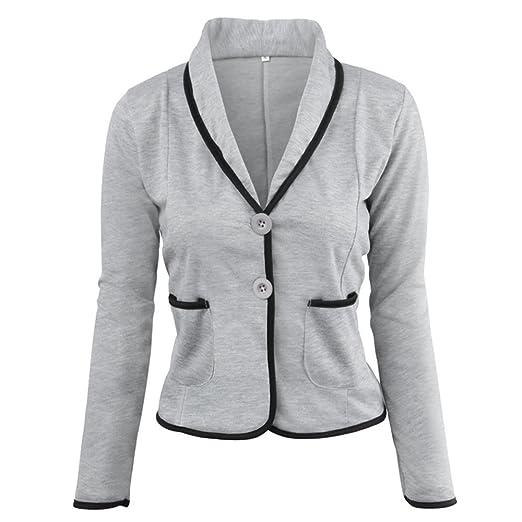 ❤ Abrigo de Traje de Mujer, Chaqueta de Negocios Chaqueta de Traje de Manga Larga Tops Chaqueta Delgada Outwear Tamaño S-6XL Absolute: Amazon.es: Ropa y ...
