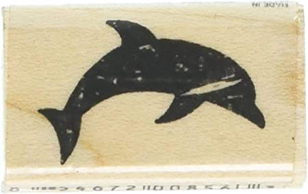 Personalized rubber stamp DOLPHINS