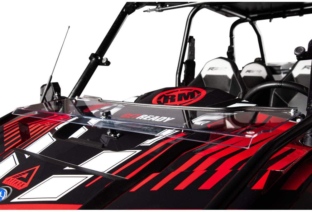 TUSK Vented Hard Coated Poly Carb Front Windshield Polaris Ranger RZR 900 Trail 2015-2018 Fits