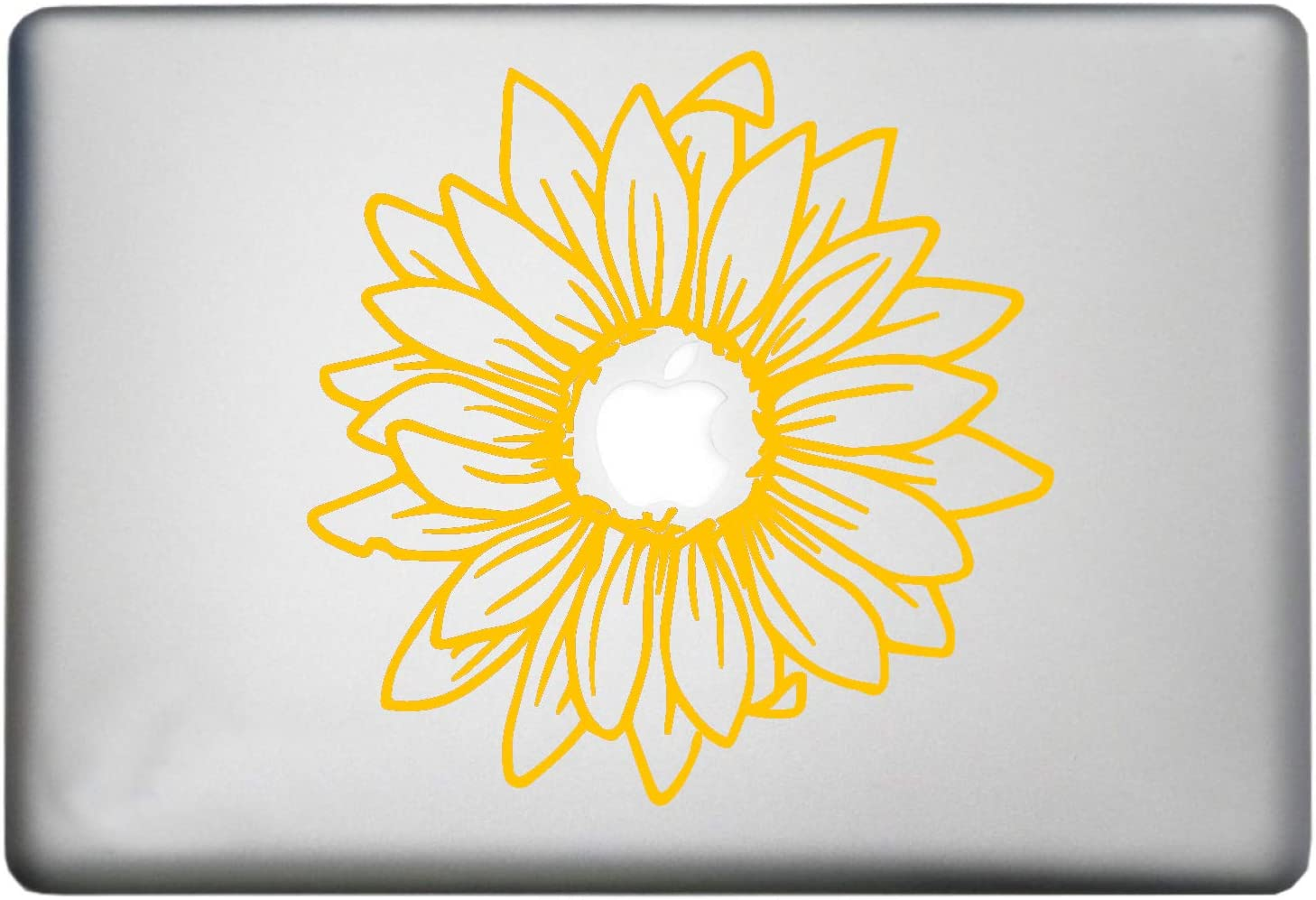 Sunflower Silhouette Laptop Sticker Decor Vinyl Decal is a Sunflower MacBook Pro Air Sticker Decor Decal. Laptop Sizes 11, 12, 13 and 15 inch Yellow
