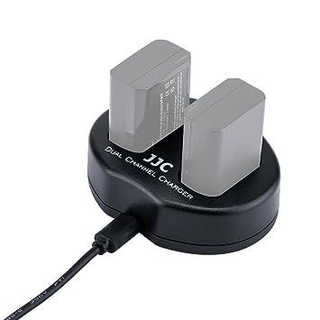 eFonto/JJC Cargador de batería dual USB para Fujifilm X-A3, X-A2, X-E3, X-T20, X-A10, X100F, X-T2, X-Pro2, X-E2S, X-T10, X-Pro1, X-T1, X-E2, X-E1, ...