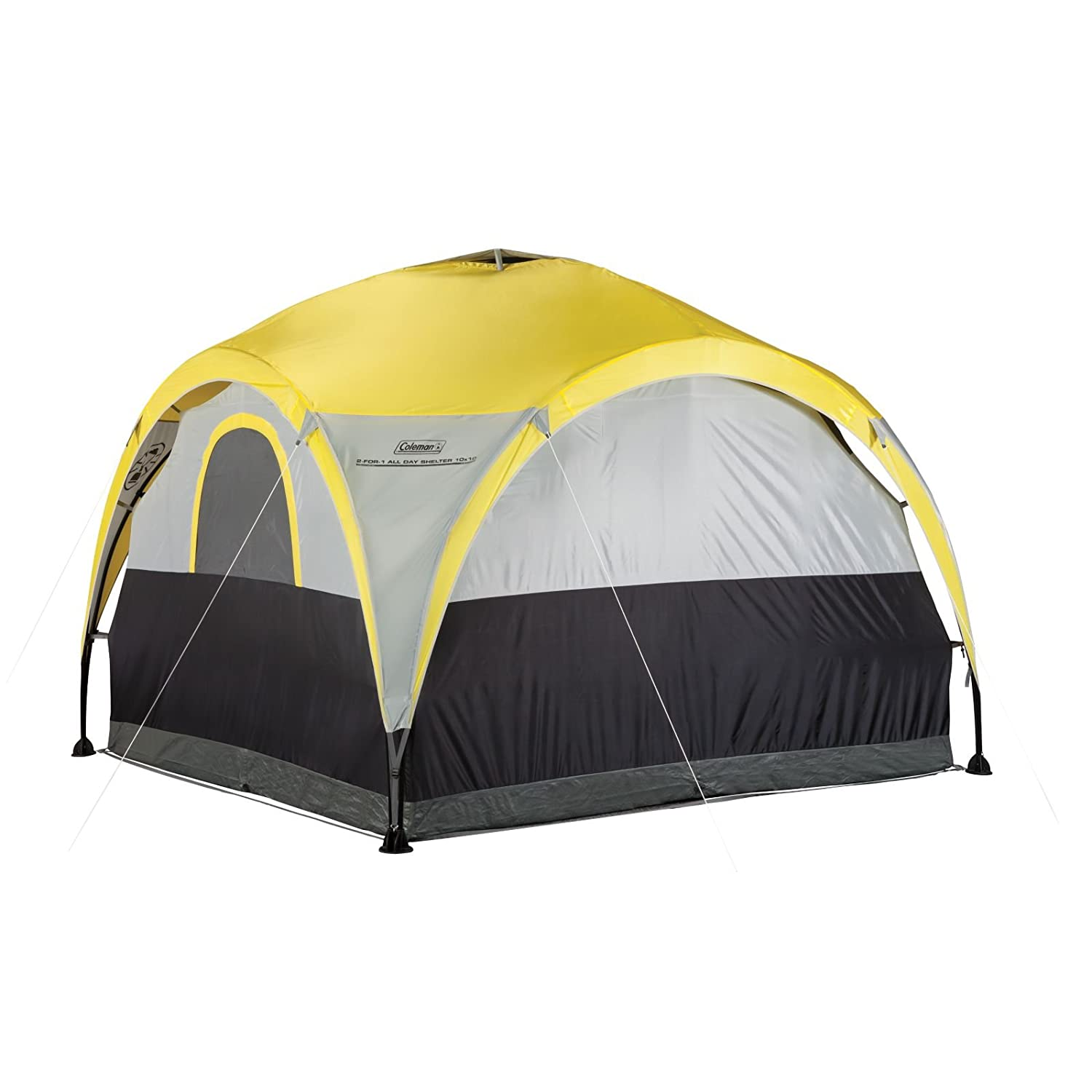 Amazon.com  Coleman 2-For-1 All Day 4-Person Shelter u0026 Tent  Sports u0026 Outdoors  sc 1 st  Amazon.com & Amazon.com : Coleman 2-For-1 All Day 4-Person Shelter u0026 Tent ...