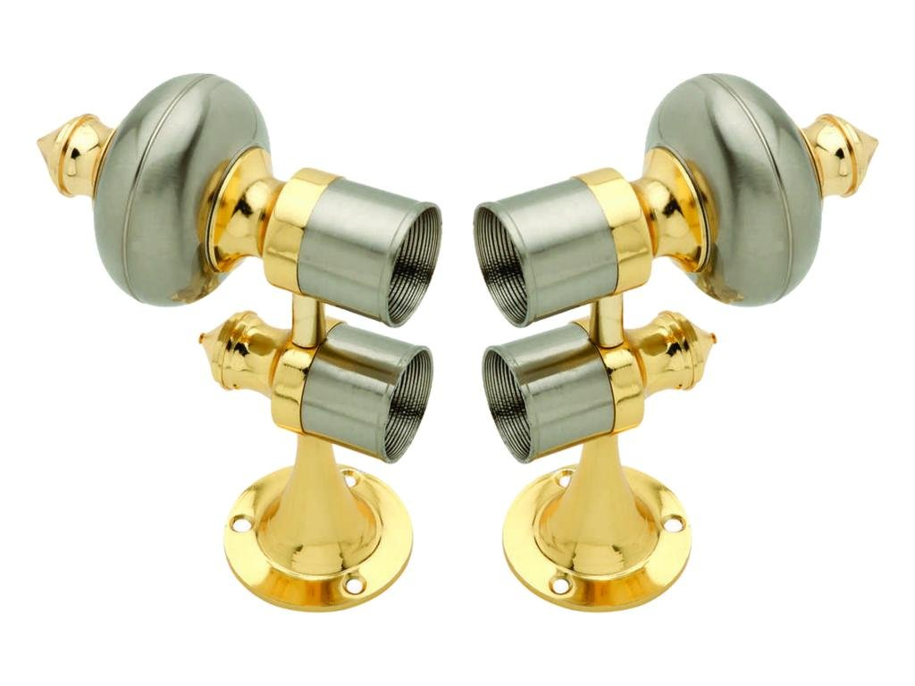 Buy Smart Shophar Zinc Curtain Bracket Double Pole Gold Silver Pack Of 2 Pieces Online At Low Prices In India