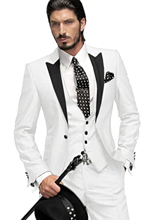 Amazon.com: Custom made – Gmw Mens novio traje esmoquin ...