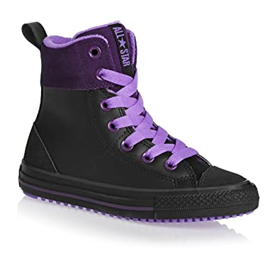 Converse Chuck Taylor All Star Junior Asphalt Hi Shoes - Black Night Purple  Violet 35d5a2ab6ef3