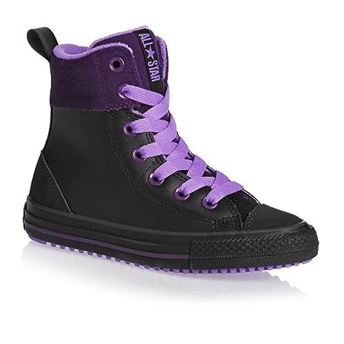 c2bb552f2fdc ... low price converse chuck taylor all star junior asphalt hi shoes black  night purple violet 84be3