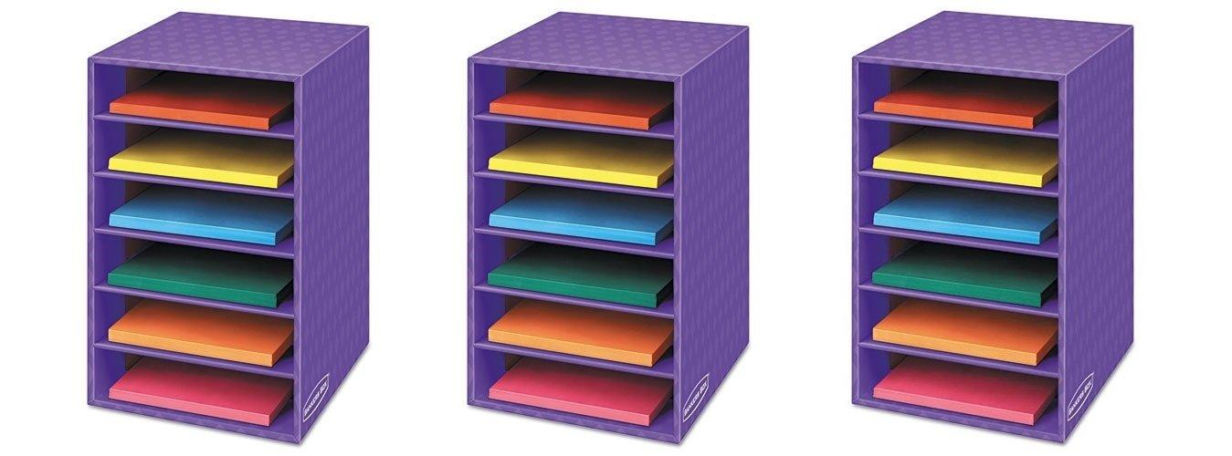 Bankers Box Classroom 6 Shelf Organizer 18''H x 12''W x 13 1/4''D (3381201) (3 SHELF ORGANIZERS) by Bankers Box