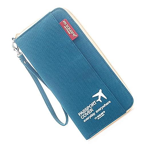 db635f309 M Square Travel passport wallet holder safety documents organizer case  multi-function bag for men