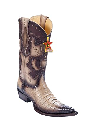 60f24d54617 Amazon.com: Men's 3X-Toe Faded Oryx Genuine Leather Caiman Belly ...