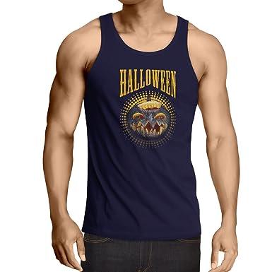 lepni.me Camisetas de Tirantes para Hombre Calabaza de Halloween ...