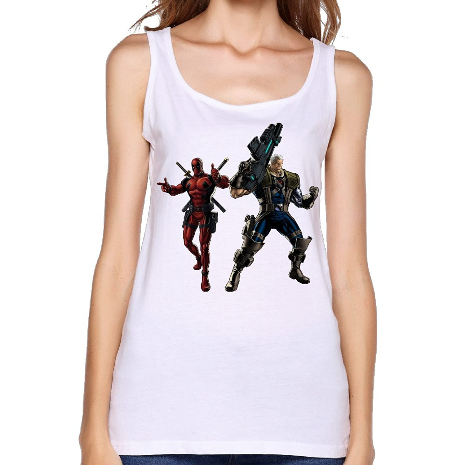 Women's Deadpool Cable Movie 2016 Fighting Tank Top-