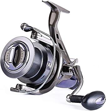 Sougayilang Spinning Fishing Reel 9 + 1BB Cuerpo de Metal Liso ...