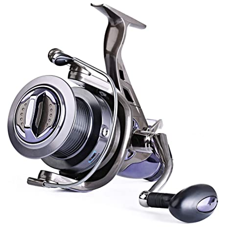 Sougayilang Spinning Fishing Reel 9 + 1BB Cuerpo de Metal Liso ...