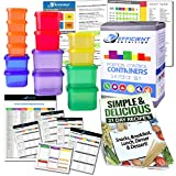 Portion Control Containers DELUXE Kit (14-Piece) with COMPLETE GUIDE + 21 ...